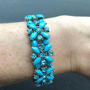Vintage crystal flower bracelet